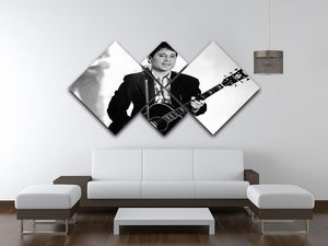 Paul Simon 4 Square Multi Panel Canvas - Canvas Art Rocks - 3