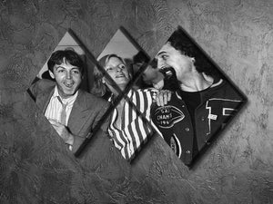 Paul and Linda McCartney with Billy Connolly 4 Square Multi Panel Canvas - Canvas Art Rocks - 2