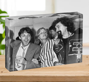 Paul and Linda McCartney with Billy Connolly Acrylic Block - Canvas Art Rocks - 2
