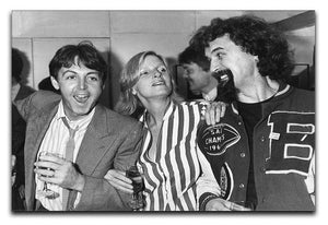 Paul and Linda McCartney with Billy Connolly Canvas Print or Poster  - Canvas Art Rocks - 1