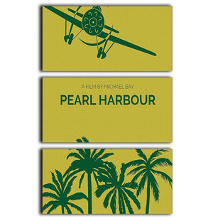 Pearl Habour Minimal Movie 3 Split Panel Canvas Print - Canvas Art Rocks - 1