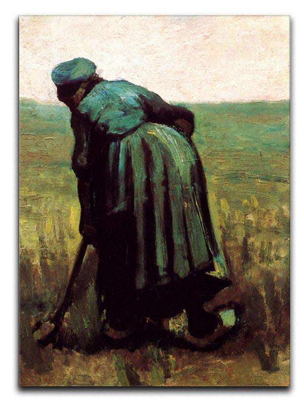 Peasant Woman Digging by Van Gogh Canvas Print or Poster