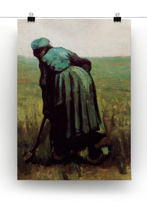 Peasant Woman Digging by Van Gogh Canvas Print & Poster - Canvas Art Rocks - 2