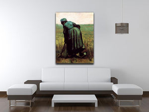 Peasant Woman Digging by Van Gogh Canvas Print & Poster - Canvas Art Rocks - 4