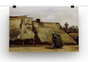 Peasant Woman Digging in Front of Her Cottage by Van Gogh Canvas Print & Poster - Canvas Art Rocks - 2