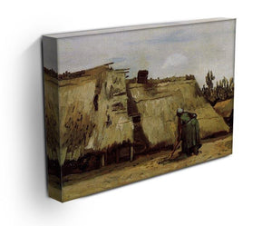 Peasant Woman Digging in Front of Her Cottage by Van Gogh Canvas Print & Poster - Canvas Art Rocks - 3