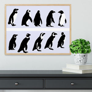 Penguins vector Framed Print - Canvas Art Rocks - 4