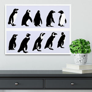 Penguins vector Framed Print - Canvas Art Rocks -6