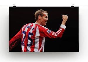 Peter Crouch Stoke City Print - Canvas Art Rocks - 2