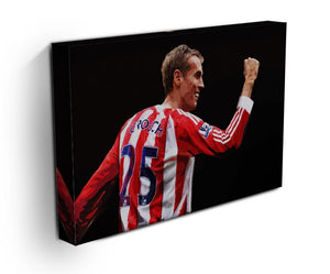 Peter Crouch Stoke City Print - Canvas Art Rocks - 3