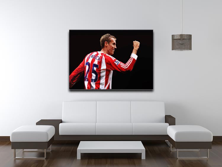 Peter Crouch Stoke City Print - Canvas Art Rocks - 4