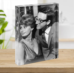 Peter Sellers with actress Sophie Loren Acrylic Block - Canvas Art Rocks - 2