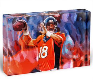 Peyton Manning Denver Broncos Acrylic Block - Canvas Art Rocks - 1