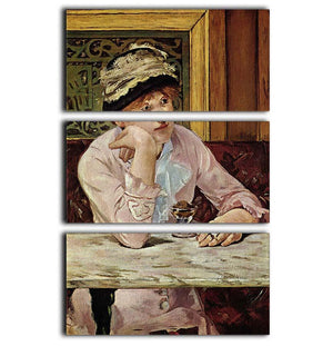 Pflaume by Manet 3 Split Panel Canvas Print - Canvas Art Rocks - 1