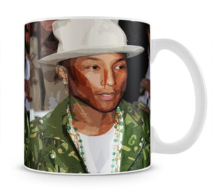 Pharrell Williams Pop Art Mug - Canvas Art Rocks - 1