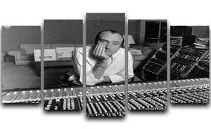 Phil Collins in the studio 5 Split Panel Canvas - Canvas Art Rocks - 1