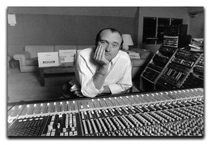 Phil Collins in the studio Canvas Print or Poster - Canvas Art Rocks - 1