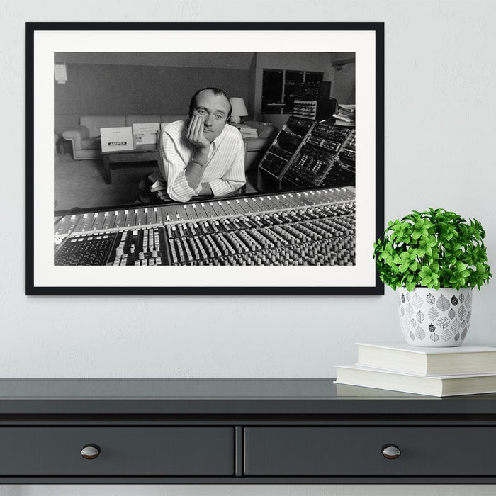 Phil Collins in the studio Framed Print