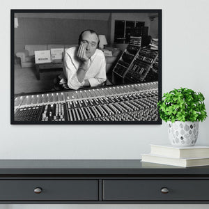 Phil Collins in the studio Framed Print - Canvas Art Rocks - 2