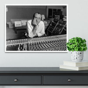 Phil Collins in the studio Framed Print - Canvas Art Rocks -6
