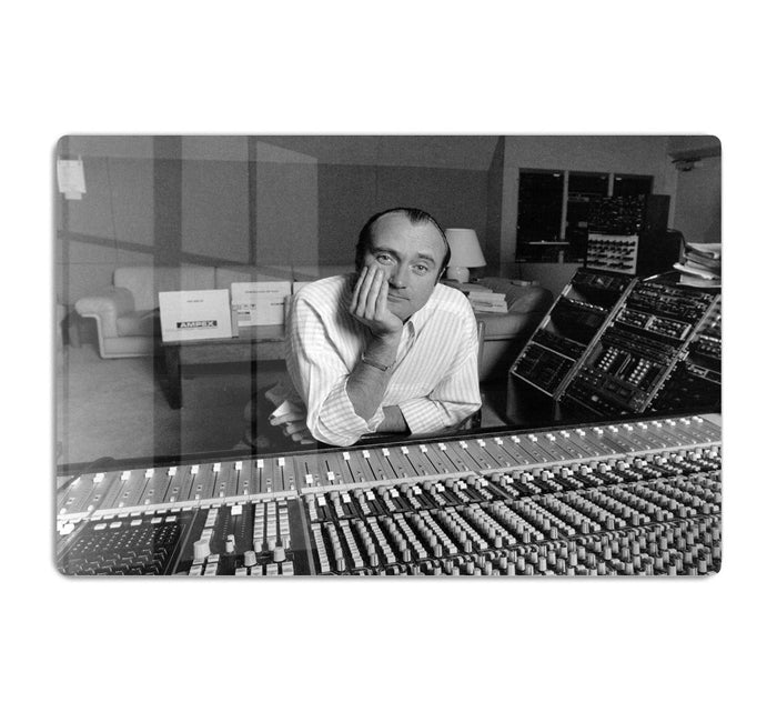 Phil Collins in the studio HD Metal Print