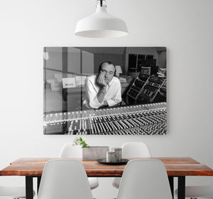 Phil Collins in the studio HD Metal Print - Canvas Art Rocks - 2