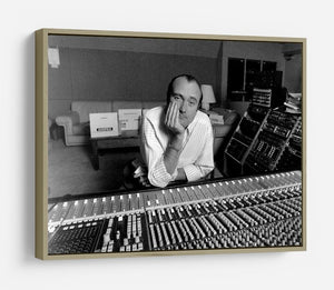 Phil Collins in the studio HD Metal Print - Canvas Art Rocks - 8