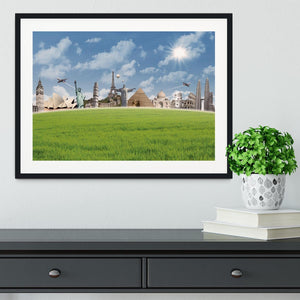 Picture of different landmarks Framed Print - Canvas Art Rocks - 1