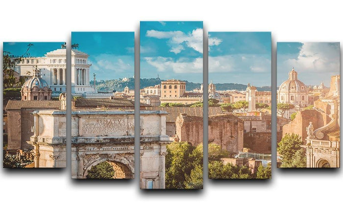 Picturesque View of the Roman Forum 5 Split Panel Canvas