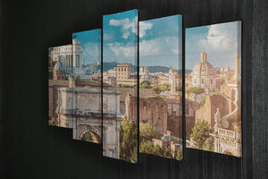 Picturesque View of the Roman Forum 5 Split Panel Canvas  - Canvas Art Rocks - 2