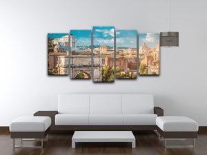 Picturesque View of the Roman Forum 5 Split Panel Canvas  - Canvas Art Rocks - 3