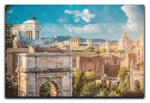 Picturesque View of the Roman Forum Canvas Print or Poster  - Canvas Art Rocks - 1
