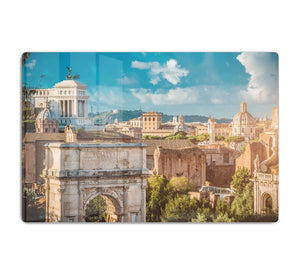Picturesque View of the Roman Forum HD Metal Print
