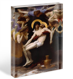 Pieta By Bouguereau Acrylic Block - Canvas Art Rocks - 1