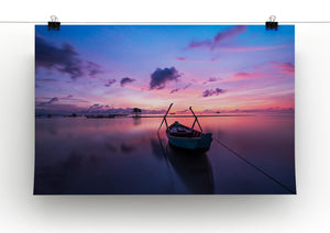 Pink Sunrise Over Lake Print - Canvas Art Rocks - 2