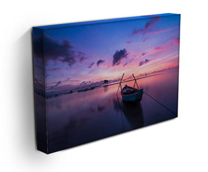 Pink Sunrise Over Lake Print - Canvas Art Rocks - 3