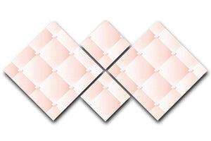 Pink upholstery vector abstract 4 Square Multi Panel Canvas  - Canvas Art Rocks - 1