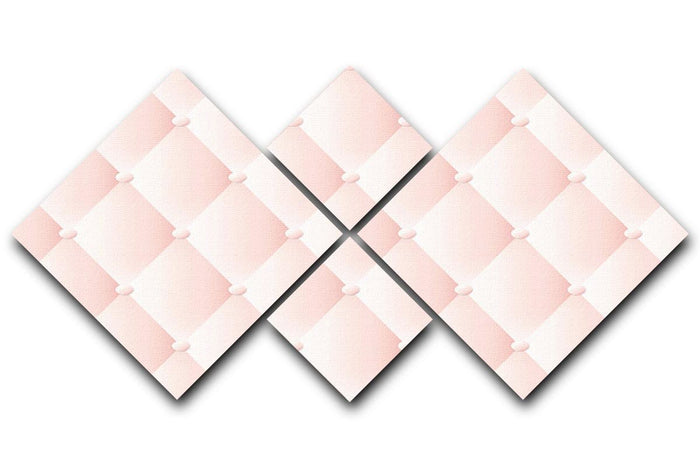 Pink upholstery vector abstract 4 Square Multi Panel Canvas