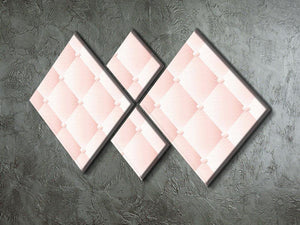 Pink upholstery vector abstract 4 Square Multi Panel Canvas  - Canvas Art Rocks - 2