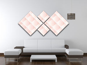 Pink upholstery vector abstract 4 Square Multi Panel Canvas  - Canvas Art Rocks - 3