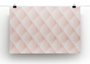 Pink upholstery vector abstract Canvas Print or Poster - Canvas Art Rocks - 2