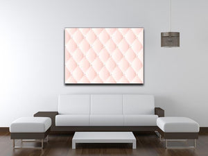 Pink upholstery vector abstract Canvas Print or Poster - Canvas Art Rocks - 4