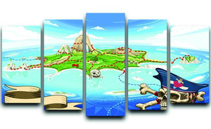 Pirate Cove Island Treasure Map 5 Split Panel Canvas  - Canvas Art Rocks - 1