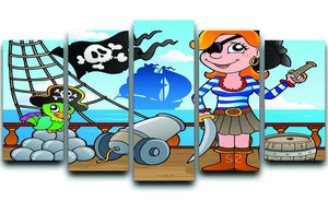 Pirate ship deck theme 8 5 Split Panel Canvas  - Canvas Art Rocks - 1