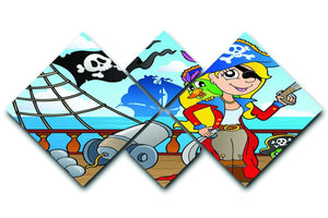 Pirate ship deck theme 9 4 Square Multi Panel Canvas  - Canvas Art Rocks - 1