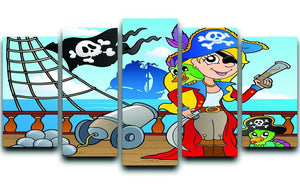 Pirate ship deck theme 9 5 Split Panel Canvas  - Canvas Art Rocks - 1