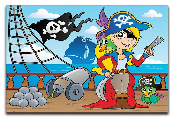 Pirate ship deck theme 9 Canvas Print or Poster
