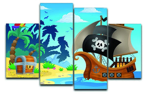 Pirate ship topic image 5 4 Split Panel Canvas  - Canvas Art Rocks - 1