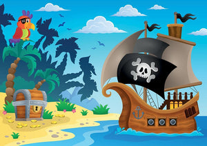 Pirate ship topic image 5 Wall Mural Wallpaper - Canvas Art Rocks - 1