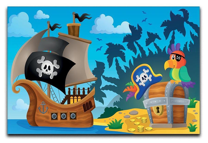 Pirate ship topic image 6 Canvas Print or Poster